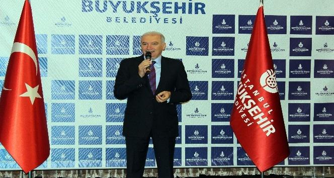 İBB Başkanı Mevlüt Uysal mesai arkadaşlarıyla bayramlaştı
