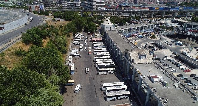 15 Temmuz Demokrasi Otogarı'nda bayram yoğunluğu havadan görüntülendi