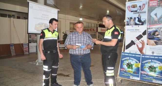 Bafra'da sürücüler ve yolcular uyarıldı