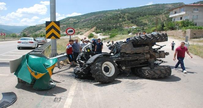 Tokat'ta traktör devrildi: 1 yaralı