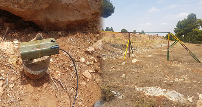 Afrin'de teröristlerin eğitim alanı tespit edildi
