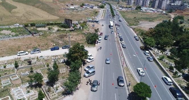 İHA ile trafik yoğunluğu ve kazalar kontrol ediliyor