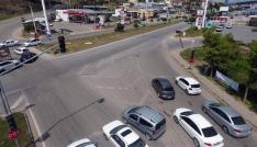Yozgatta bayram öncesi drone ile trafik denetimi yapıldı