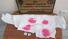 Amasyada operasyonda 297 uyuşturucu hap ele geçirildi