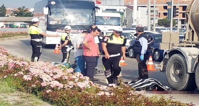 Elektrikli motosiklet sürücüsünün feci ölümü