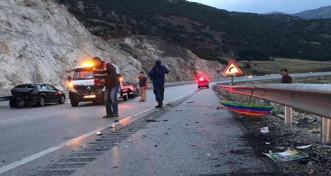 Burdurda trafik kazası: 1 ölü, 5 yaralı