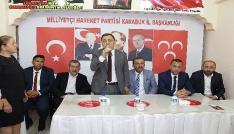 Başkan Vergili MHPde bayramlaşma törenine katıldı