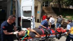 Zonguldakta otomobil şarampole uçtu: 2 yaralı