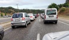 Kahramanmaraşta bayram dönüşü trafik yoğunluğu