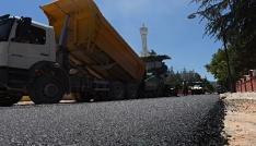 Turhalda asfalt çalışmaları devam ediyor