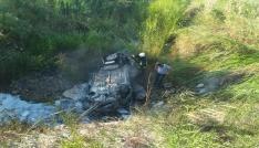 Bigada otomobil yandı