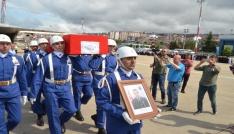 Şehit Uzman Çavuş Bahattin Baştanın cenazesi askeri uçakla Trabzona getirildi