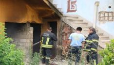 Milasta metruk evde yangın