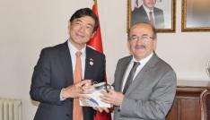 Japonyanın Türkiye Büyükelçisi Miyajima Trabzonda ziyaretlerde bulunuyor
