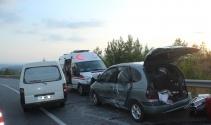 Manavgat-Akseki yolunda zincirleme kaza