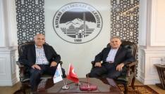 Türk Telekom Bölge Müdürü Ağırdan Başkan Büyükkılıça ziyaret