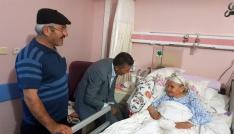 Başkan Kayadan hastalara moral
