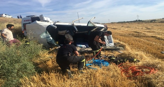 Edirnede trafik kazası: 1 ölü, 2 yaralı