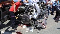 Rizede trafik kazası: 1 ölü, 1 yaralı