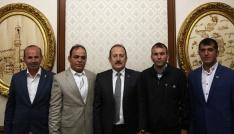 ŞADDER Yönetim Kurulu Üyeleri Vali Pehlivanı ziyaret etti