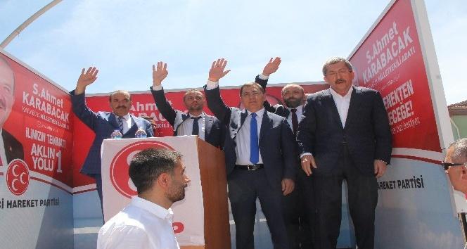 MHP seçim çalışmalarına Eskipazarda devam etti