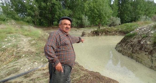 Boluda, şiddetli yağmur ve dolu tarladaki ürünlere zarar verdi