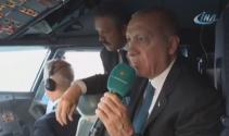 Cumhurbaşkanı Erdoğanın uçağı 3. Havalimanına indi