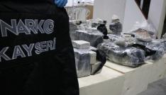Kayseride 235 kilogram eroin ele geçirildi