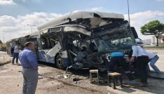 Başkentte iki EGO otobüsü çarpıştı: 1 ölü, 15 yaralı