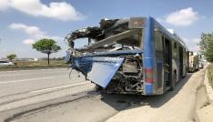 Ankarada iki EGO otobüsünün çarpıştığı kaza