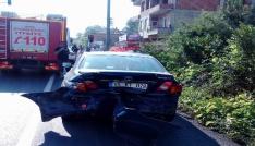 Samsunda otomobil yolcu yolcu otobüsüne çarptı: 1 ölü, 1 yaralı