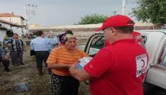 Kızılaydan sel mağdurlarına yardım