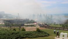 Samsunda Amisos Tepesi alev alev yandı