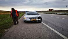 Otomobil tankere arkadan çarptı: 1 yaralı