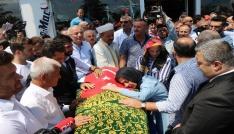 Kazada ölen İbrahim Özyer Samsunda defnedildi