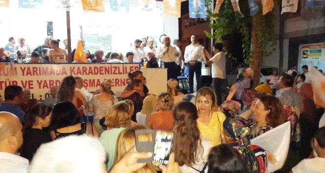 AK Parti Bodrum Konacıkta sokak mitingi yaptı