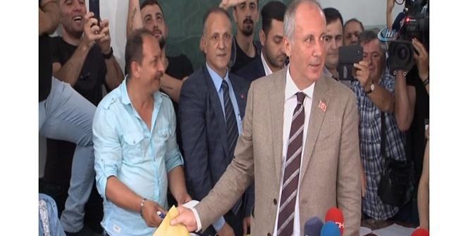 Cumhurbaşkanı Adayı Muharrem İnce, memleketi Yalova'da oy kullandı