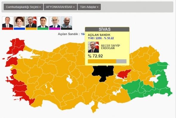İşte Erdoğan'ın rekor kırdığı iller