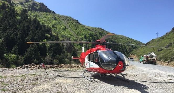 Helikopter ambulans Haziran ayında 44 hasta için havalandı