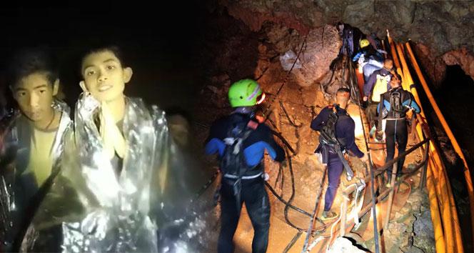 Taylandda mağarada mahsur kalan çocuklardan 6sı kurtarıldı