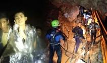 Tayland'da mağarada mahsur kalan çocuklardan 6'sı kurtarıldı