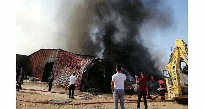 Malatyada ambalaj fabrikasında korkutan yangın