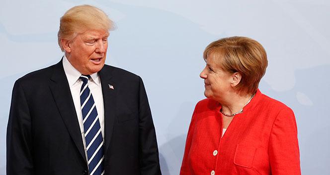 Trump, Merkel ve Macron'la görüştü