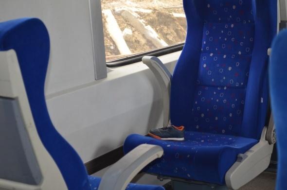 Trenin içinden görüntüler yürek yaktı