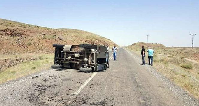 Bulanıkta askeri araç devrildi: 4 yaralı