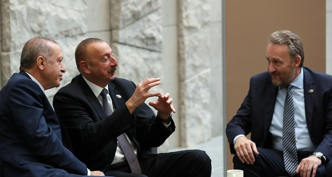 Başkan Erdoğan Aliyev'le görüştü!