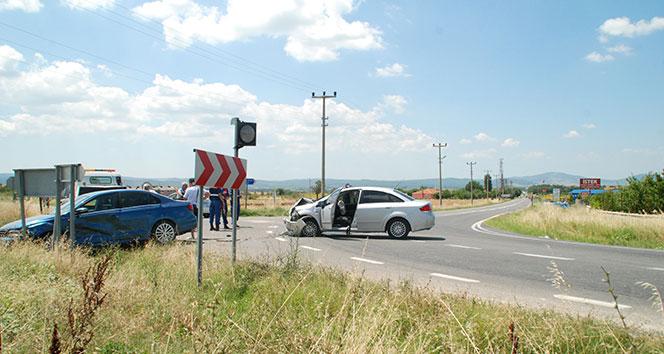 Edirnede trafik kazası: 6 yaralı