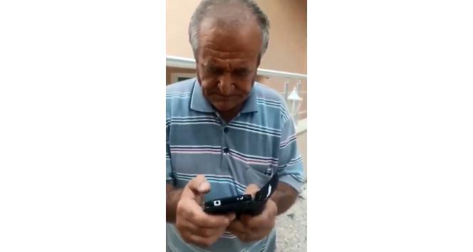 Videosunu çeken adamı kayda alıp sosyal medyada paylaştı