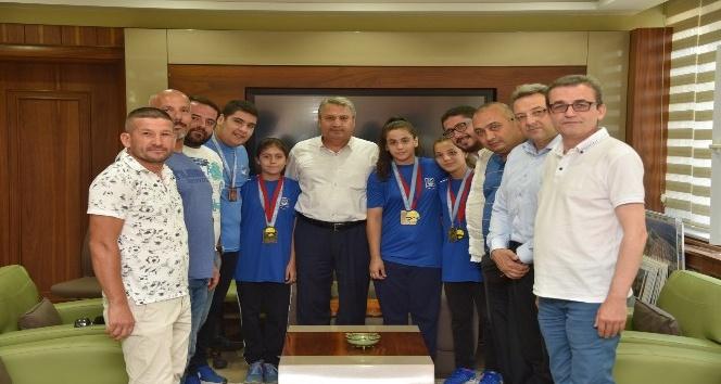 Başkan Çerçi Balkan Şampiyonlarını ağırladı
