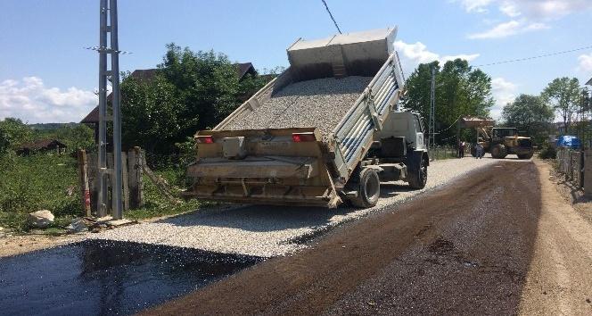 204. Sokak sathi kaplama asfalt ile düzenleniyor